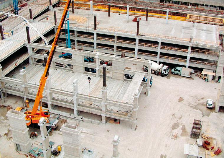 Plinti e pilastri per un edificio a più piani