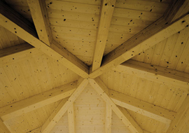 L'eleganza delle coperture in legno lamellare