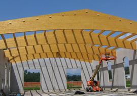 Coperture in legno lamellare: un materiale più sano per noi e per l'ambiente